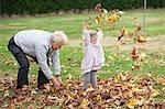 Grand-père et petite-fille