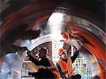 Engineers Testing Forged Steel