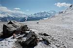 Dom, Fletschhorn und Weissmies Berge, Walliser Alpen, Schweiz