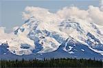 Mont tambour, monts Wrangell, Parc National de Wrangell, Alaska, USA