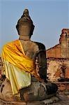 Wat Maha, Statue de Bouddha, Ayutthaya, Thaïlande
