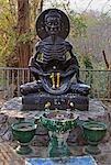 Fasting Buddha Statue, Wat Umong, Chiang Mai, Thailand