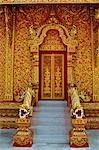 Entrance to Wat Phra That Lampang Luang, Ko Kha, Lampang Province, Thailand
