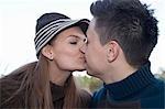 Paar, küssen