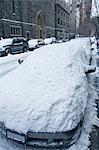 Snow Covered Parked Car, New York City, New York, USA