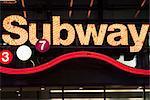 Neon Subway sign, Times Square, Manhattan, New York City, États-Unis d'Amérique, Amérique du Nord