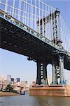 Manhattan Bridge spanning the East River,New York City, New York, United States of America, North America