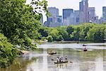 The Lake, Central Park, Manhattan, New York City, New York, United States of America, North America