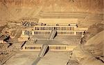 Aerial view of hatshepsut temple