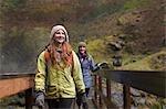 Women Hiking, Columbia River Gorge, Oregon, USA