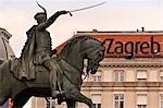Equestrian Statue, Ban Jelacic Square, Zagreb, Croatia