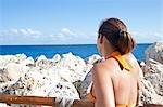 Woman at Rocky Beach,  Mexico