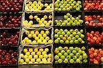 Pommes dans un supermarché, état de New York, USA