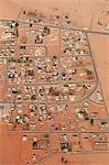 Aerial of Desert Town, Wadi Rum, Jordan, Middle East