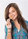Mädchen essen ein Lutscher