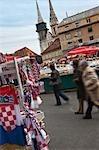 Marché, Zagreb, Croatie