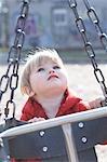 Little Girl Playing at Sorauren Avenue Park, Toronto, Ontario, Canada