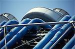 Centre Georges Pompidou, Beaubourg, Paris (1977). Architectes : Renzo Piano et Richard Rogers