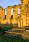 Byland Abbey. Vue du transept sud en ambulatoire.