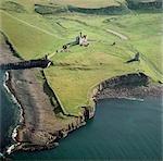 Dunstanburgh Castle. Aerial view.