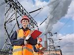 Travailleuse à la centrale électrique