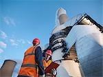 Installation de désulfuration & travailleurs