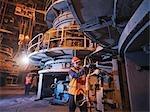 Travailleurs du charbon à la centrale électrique de fraisage