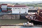 Écluse de Miraflores, le Canal de Panama, Panama City, Panama