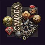 WW2 Erinnerungsstücke aus der kanadischen Streitkräfte