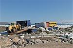 Unloading Sealift Supplies, Iqaluit, Nunavut, Canada