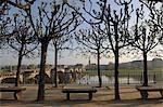 Bruhl's Terrace in the Morning, Augustus Bridge, Dresden, Saxony, Germany