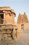 Old ruins of a temple, Vittala Temple, Hampi, Karnataka, India