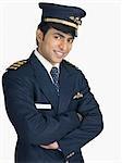 Portrait of a pilot smiling