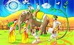 Personnes célébrant Bihu festival