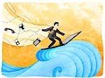 Kaufmann, Surfen im Netz