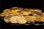 Tas de pièces de monnaie indiennes
