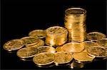 Gros plan de pièces de monnaie indiennes
