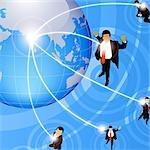 Anschauliche Darstellung des globalen Geschäfts