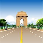 Facade of a war memorial, India Gate, New Delhi, India