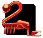Close-up of a Scorpio zodiac sign