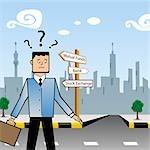 Unternehmer stehen in der Nähe eine Tafel und suchen verwirrt für Investitionen
