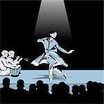 Femme assure Bharatnatyam la danse classique indienne
