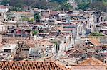 Vue aérienne de Santiago de Cuba prise depuis le toit du Casa Granda Hotel, Santiago de Cuba, Cuba, Antilles, Amérique centrale