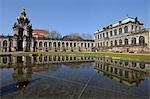 Kronentor et le palais Zwinger, Dresde, Saxe, Allemagne
