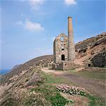 Die stillgelegten Wheal Coates von mir, St. Agnes, Cornwall, England, Vereinigtes Königreich, Europa