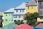 Traditionelle bunte Häuser, Valparaiso, UNESCO-Weltkulturerbe, Chile, Südamerika
