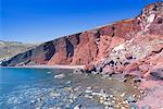 Red Beach, Santorin, Îles Cyclades, îles grecques, Grèce, Europe