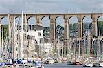 Ville de Morlaix et son viaduc, Nord Finistère, Bretagne, France, Europe