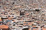 Sur les toits de l'air, Potosi, en Bolivie, en Amérique du Sud