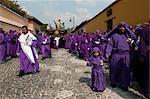 Semaine Sainte Procession, Antigua, au Guatemala, l'Amérique centrale